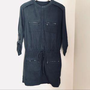 Banana Republic Gray Military Shirt Dress | 10